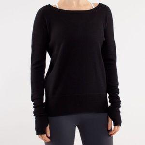 Lululemon Yin Me Pullover Black / Coal Size 4/6